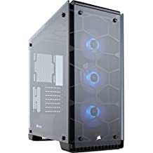 CORSAIR Crystal 570X RGB Mid-Tower Case, 3 RGB Fans, Tempered Glass - Black
