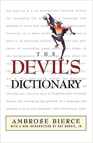 Ebook The Unabridged Devils Dictionary By Ambrose Bierce