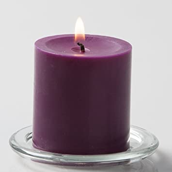 "Richland 3"" X 3"" Hand Poured Purple Pillar Candle by Richland"