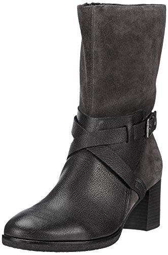 Gabor Kvinnor Boots Grå, (schw / Dkgrey (mikro)) 72.834.37 Schwarz