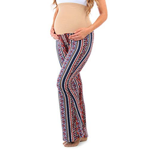 Women's Strechy Maternity Palazzo Pants w/ Tummy Control - Made in USA (Made Outfit)