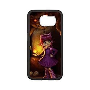 Durable Rubber Cases Samsung Galaxy S6 Black Cell phone Case Vuibt League of Legends Annie Protection Cover