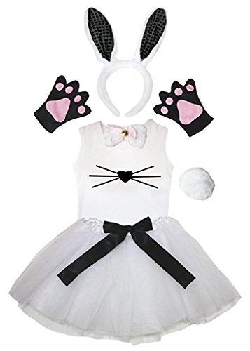 Petitebella Headband Bowtie Tail Gloves Shirt Skirt 6pc