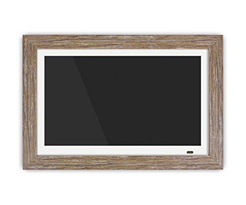 8GB Built-in Memory ADMPFD13F Includes 2 Interchangeable Frames,1920 x 1080 res Aluratek 13 Distressed Wood Digital Photo Frame