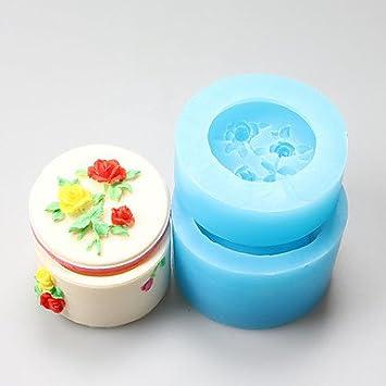hjlhyl redondo rosa caja suave arcilla resina Joyero Chocolate de silicona moldes, herramientas de decoración: Amazon.es: Hogar