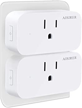2-Pack Aisirer WiFi Mini Smart Plug Outlet