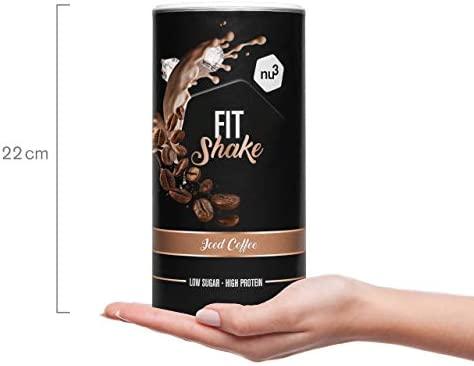 nu3 Fit Shake sabor Café Helado - 450g - 71% de proteína de ...