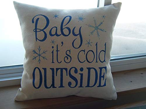 High quality baby it's cold outside pillow - mother's day gift - gift for baby