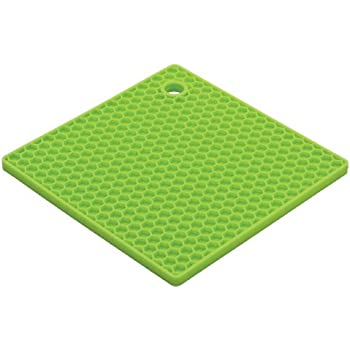 HIC Honeycomb Silicone Trivet, 7-Inch, Light Green