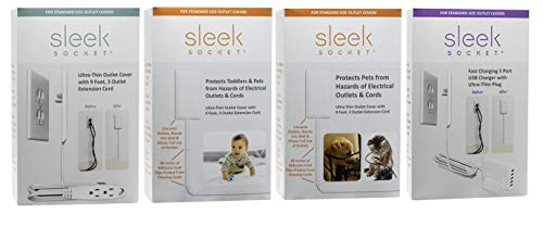sleek socket - Superior Electrical Childproofing Protects Toddlers & Pets from Hazards of Electrical Outlets & Cords by sleek socket (Image #8)