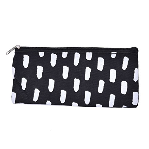 - Trenton Black White Striped Dot Students Stationery Pencil Case Cosmetic Pouch Bag Holder
