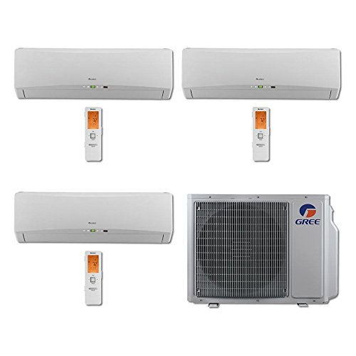 Gree MULTI30BTERRA300 - 30,000 BTU Multi21 Tri-Zone Wall Mount Mini Split Air Conditioner Heat Pump 208-230V (9-9-9) price