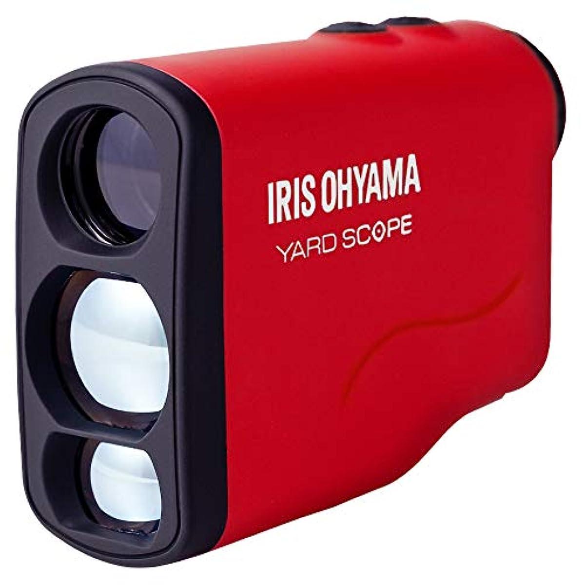 [해외] 아이리스 오야마 레이저 거리계 최대 측정 거리 660YD 골프 용품 경량 (케이스 커버 전지 부착) PLM-600-R 레드
