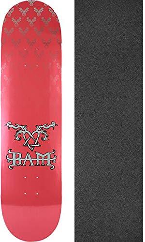 Margera Skateboard Decks Bam (Element Skateboards Bam Margera Heartagram Bam Pink/Silver Skateboard Deck - 8.2