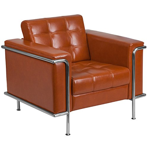 Flash Furniture HERCULES Lesley Series Contemporary Cognac Leather Chair with Encasing ()