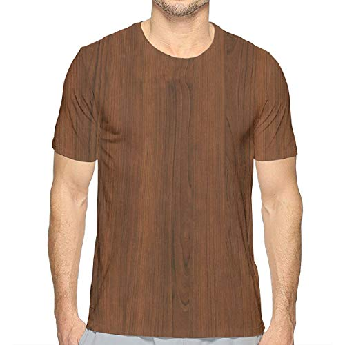 Goods Shops Wood Grain Men's Crew T-Shirt Soft Short Sleeve Summer Casual Short-Sleeve XXL White