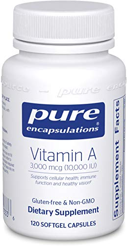 Cheap Pure Encapsulations – Vitamin A 10,000 IU – Supports Vision, Growth, Reproductive Function, Immunity, Skin and Mucous Membranes* – 120 Softgel Capsules