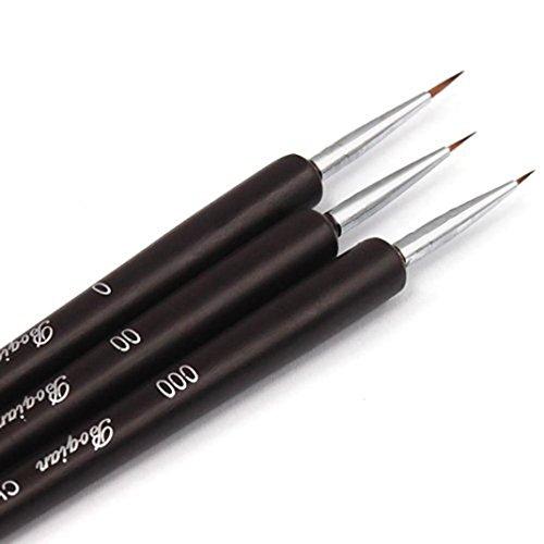 Price comparison product image Tenworld 3PCS Dotting Painting Drawing UV Gel Liner Polish Brush Tool Nail Art Pen