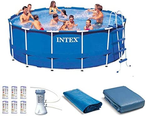 Intex 15ft x 48in Frame Swimming Pool Set w/Pump and Filter Pump Cartridge