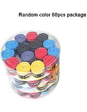 ZengBuks 60 Piezas de Mango Original Antideslizante pegajoso Fuerte viscoso Gel de Mano Bat Bat Tape Tape béisbol para Raqueta de bádminton - Aleatorio