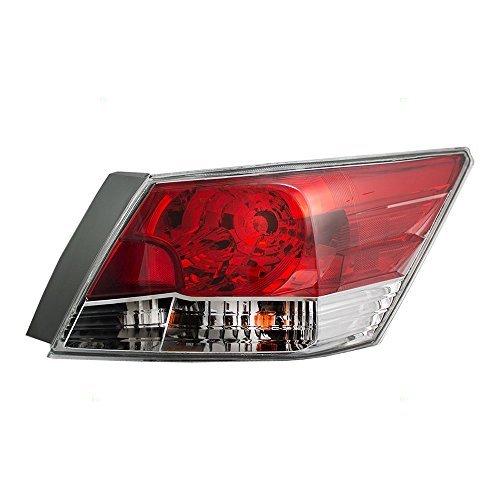 Taillight Tail Lamp Passenger Replacement for 08-12 Honda Accord Sedan 33500TA0A01 (Honda Accord Tail Lights Lamps)