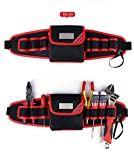 SaveStore Tool Bag with Cover Tool Belt for Screwdriver Pouch Durable Waist Tool Holder Adjustable Electric Drill Bag