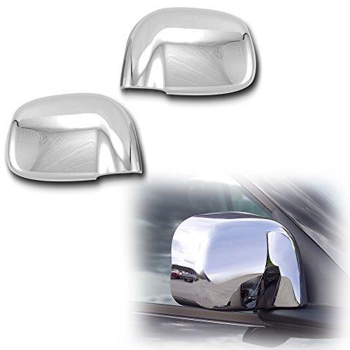 AutoModZone Chrome ABS Side View Mirror Full Mirror Cover 2-pc Set for 02-08 Dodge Ram 1500 2500 3500 (Via Set Chip Ram)