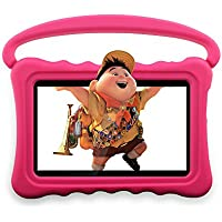 Auto Beyond Kids Tablet PC 7inch With Handle Silicone Case-Bluetooth,Display,WiFi,Playstore,Touch Sreen,Dual Camera,Google Android 4.4-(Pink)