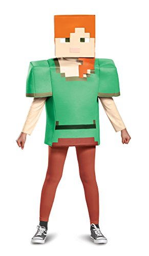 Alex Classic Minecraft Costume, Multicolor, Large (Minecraft Halloween Costume Skin)