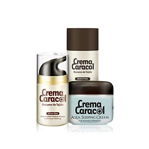 [JAMINKYUNG] Crama Caracol All-In-One Special Skin Care Set (Skin Essential Booster 150ml + All-in-one Cream 50ml + Aqua Sleeping Cream 60ml) / Made in Korea Review