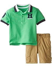 Baby Boys' Pique Polo and Short Set