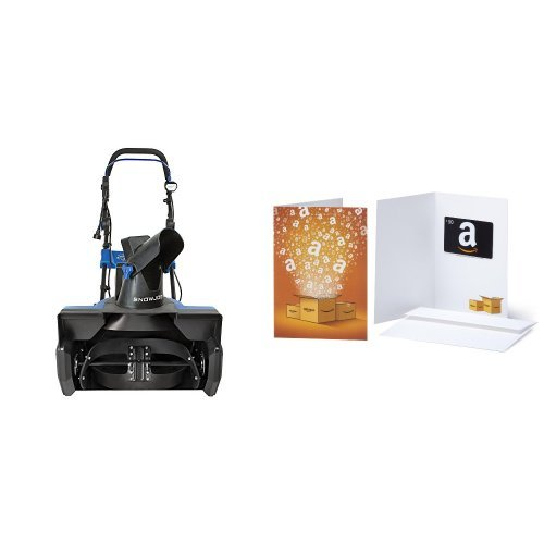 Snow Joe Ultra SJ625E 21-Inch 15-Amp Electric Snow Thrower and $50 Amazon Gift Card Bundle