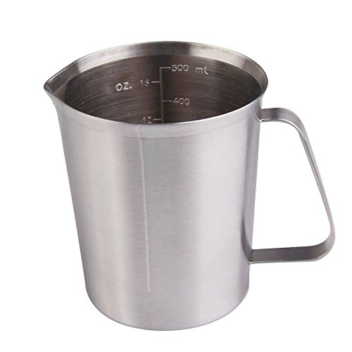 Measuring Metal Jug (Stainless Steel Measuring Cup - Azmall Metal Measuring Cup 500ML Cup Container Jug Cup Suit For Dry & Liquid Ingredients)