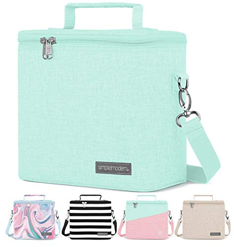 Simple Modern 4L Blakely Lunch Bag for Women & Men - Blue Insulated Kids Lunch Box -Seaside
