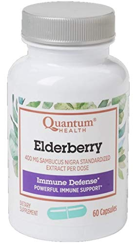 Quantum Health, Elderberry Extract Capsule, 60-Count Packages Pack of 3