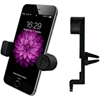 Luxury Air Vent Car Mount - Universal Smartphone / Mobile Phone Holder by enviCAR - Compatible with iPhone 7, 7 Plus, 6, 6S, Se | 6 Plus, 6S Plus, iPhone 5, 5S | Galaxy S5, S6, S7, S7 Edge and Others