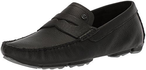 UGG Men's Bel-Air Penny Slip-On Driving Style Loafer, Black, 9.5 M - Moc Penny Air