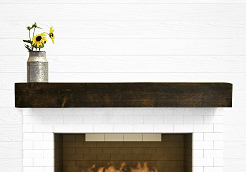 Dogberry Collections Modern Farmhouse Mantel Shelf 72quot Dark Chocolate