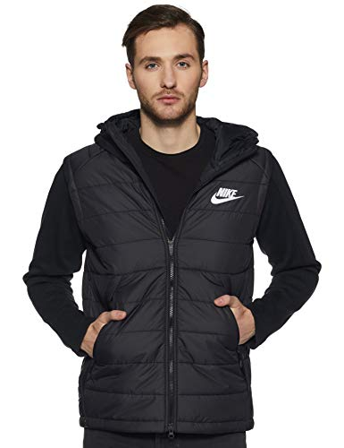 Nike Men's Hoodie (806864-10 Black/White_XL)