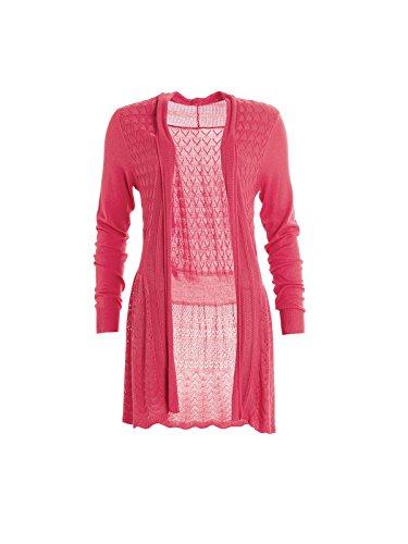 Smash Sabut, Cardigan para Mujer Rosa (Coral)