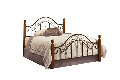 San Marco Metal Headboard - Hillsdale Furniture 310BKR San Marco Bed Set with Bed Frame, King