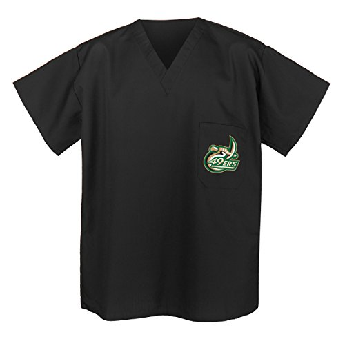 Official UNCC UNC Charlotte Scrub Shirts - Best University of North Carolina Cha Black