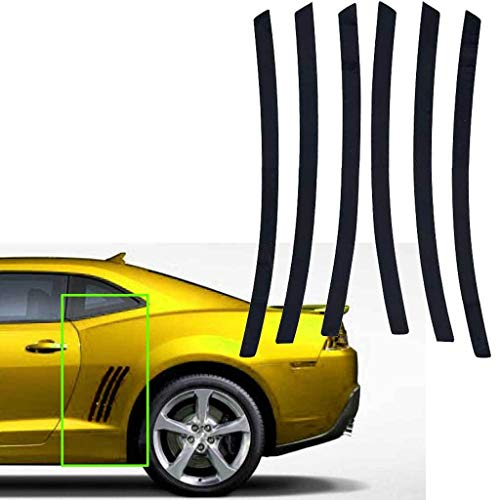 Xotic Tech for Chevy Camaro L&R Side Vent Insert Black Stripe Decal Inlay Sticker 2011-2015