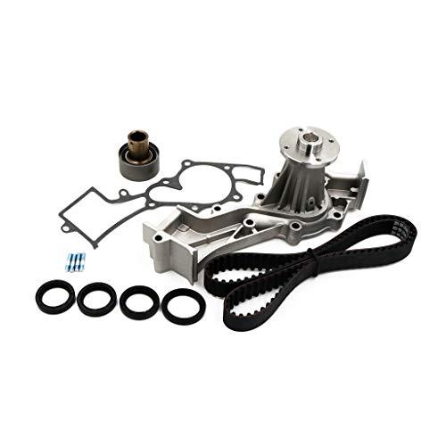 Timing Belt Water Pump Kit/Tensioner/Crankshaft Seal VG33E VG33R For 96-04 Nissan Frontier Xterra 3.3L (As Shown)