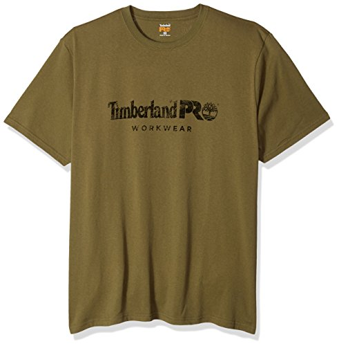 Timberland PRO Men's Big and Tall Cotton Core Short-Sleeve T-Shirt, Burnt Olive, 2X-Large