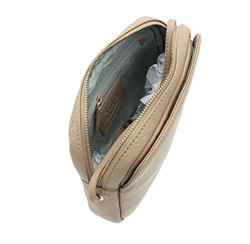 ORIGINALES de NAPPA Tula Zip cuero superior hombro/Cross Body bolso 8385 negro beige