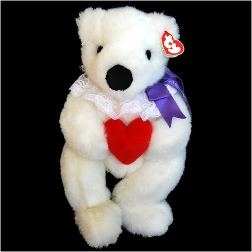 - Ty Classic - Romeo White Mother's Day Bear with Red Heart