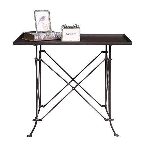 Creative Co-op Rectangle Metal Accent Table, 27