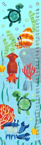 Oopsy Daisy Growth Charts Marine Munchkins by Sorry You're Happy, 12 by 42-Inch by Oopsy Daisy