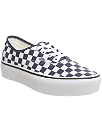 5ed416b4be76fd Authentic Platform Checkerboard Medieval Blue Women s.